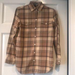 Ralph Lauren Jeans Flannel LongSleeve Shirt NWOT